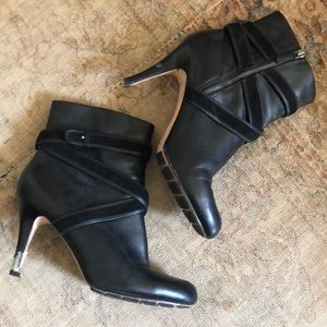 Cole Haan Nike air black leather strap booties 11